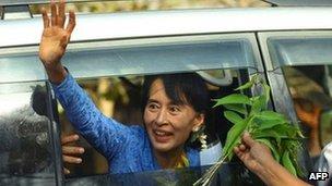 Burma opposition leader Aung San Suu Kyi