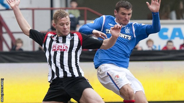 Dunfermline lost 4-1 to Rangers at East End Park on 11 February