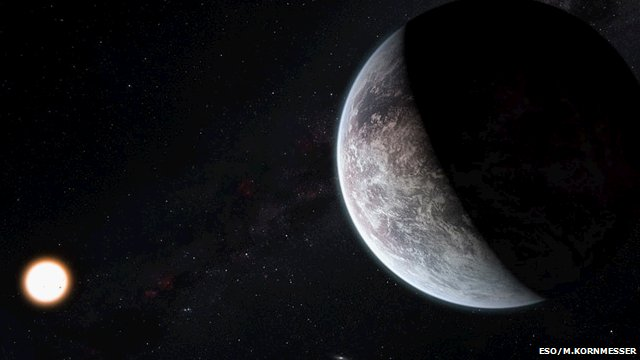 Artist's impression of a super-Earth