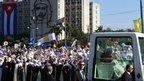 Pope arrives in Havana's Revolution Square to celebrate mass