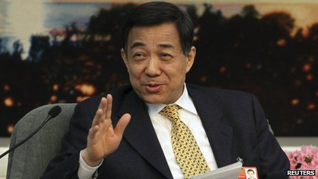 Bo Xilai, pictured on 23 February 2012