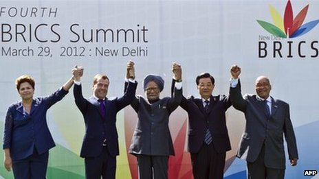 Leaders of Brics met in India to discuss closer trade links and a new bank