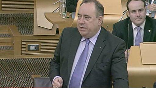 First Minister Alex Salmond