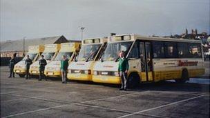 Old Guernsey Roadrunner buses