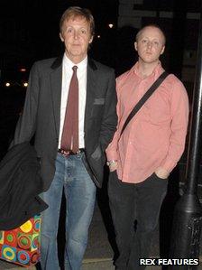 Paul McCartney and son James