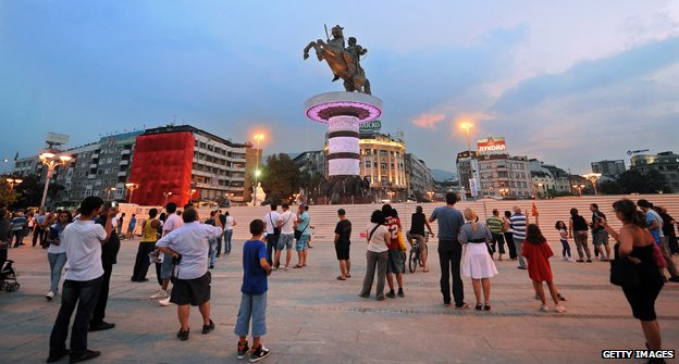 Statue of Alexander the Great in Skopje