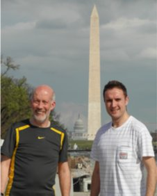 David Ford and Chris Lyttle on the Sport Relief mile in Washington