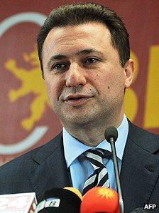 Macedonian premier Nikola Gruevski