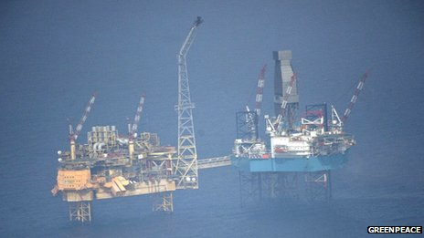 Elgin platform [Pic: Greenpeace]