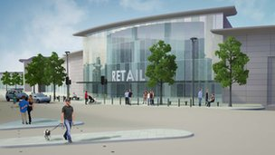 Artist&#039;s impression of the Western Gateway. Photo: Middlesbrough Council