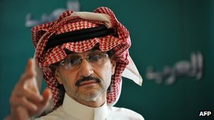 Prince Alwaleed bin Talal in Riyadh, 13 September 2011 