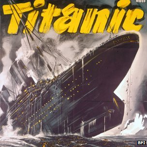 Poster from the 1943 German Nazi propaganda film, Titanic