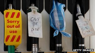Out-of-use petrol pumps