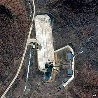 The images of the rocket launch site were assessed by a US university