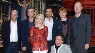 Harry Potter stars visit new studio tour