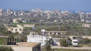 View of Famagusta from UN post