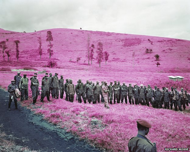 Colonel Soleil's Boys, 2010 © Richard Mosse. Courtesy of the artist and Jack Shainman Gallery, NY