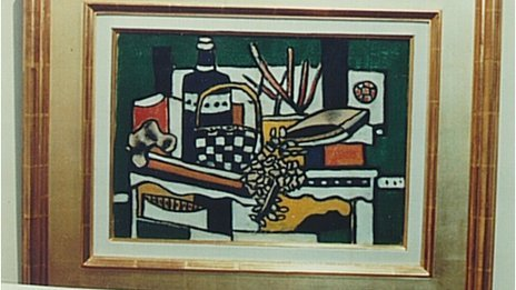 The Blue Bottle by Fernand Leger