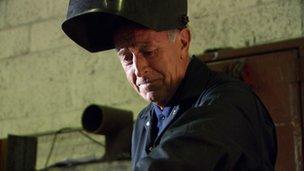 Len Goodman welding
