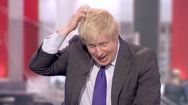 Boris Johnson in the studio