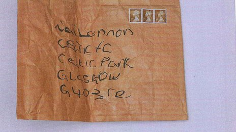 Parcel sent to Neil Lennon at Celtic Park