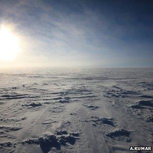 Antarctic plateau (Image: Alexander Kumar)