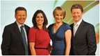 Breakfast presenters (left-right): Bill Turnbull, Susanna Reid, Louise Minchin and Charlie Stayt