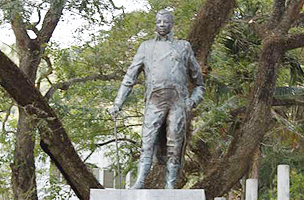 Statue of Haiti's King Henri
