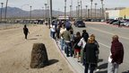 Lines go around the block at the Primm Valley Lottery Store in Primm, Nevada 29 March 2012