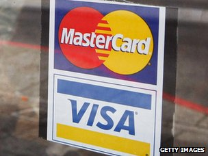 Mastercard and Visa logo