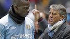Mario Balotelli and Roberto Mancini