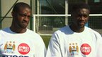 Manchester City's Yaya and Kolo Toure