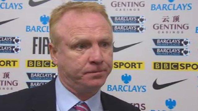 Aston Villa boss Alex McLeish