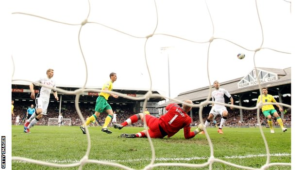 Clint Dempsey scores Fulham's first goal