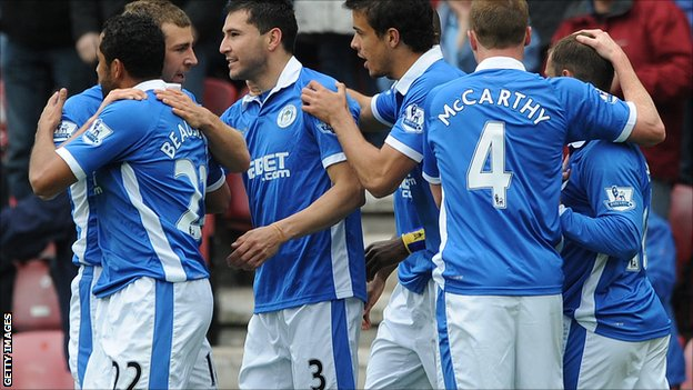 Wigan celebrate