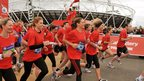 Princess Beatrice (second left) joins runners for the National Lottery Olympic Park run