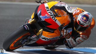 Casey Stoner on the Repsol Honda