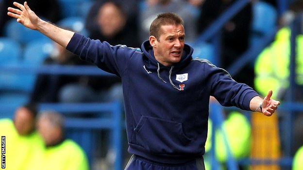 Preston manager Graham Westley