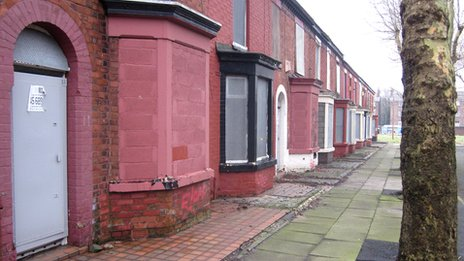 Tinned-up homes in Liverpool's Welsh Streets