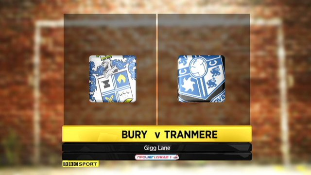 Highlights: Bury 2-0 Tranmere