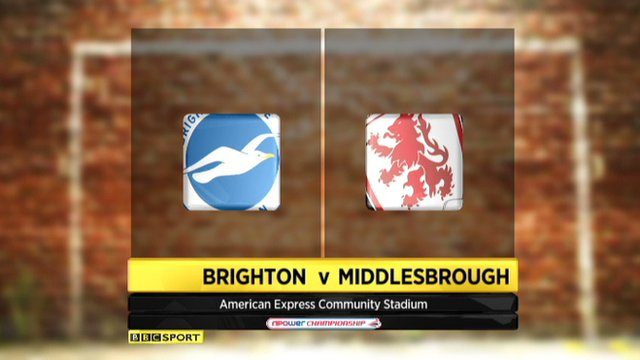 Brighton 1-1 Middlesbrough