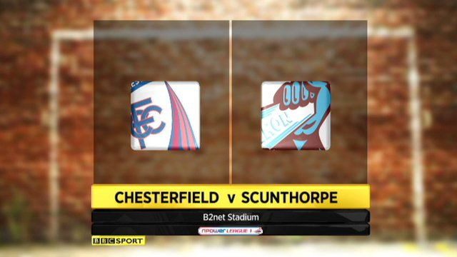 Chesterfield 1-4 Scunthorpe