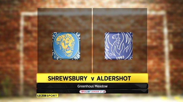Shrewsbury 1-1 Aldershot