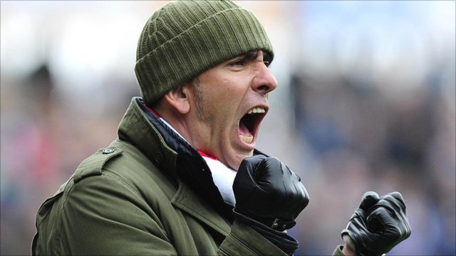Swindon manager Paolo Di Canio