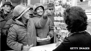 Argentine conscripts in Port Stanley in April 1982