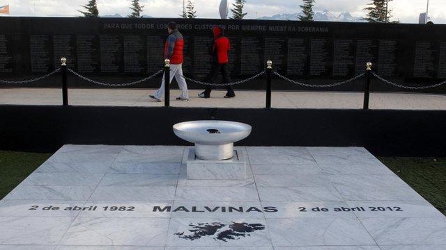 Malvinas Cenotaph in Ushuaia