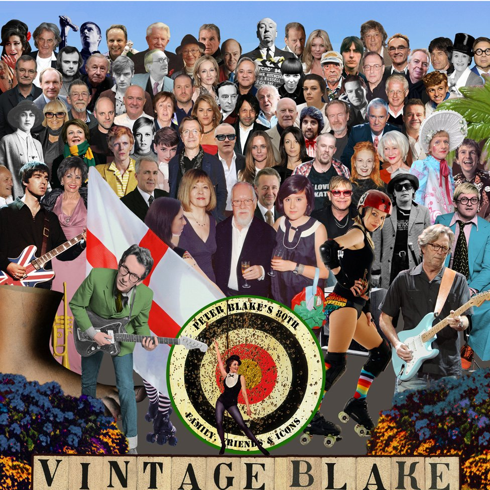 Sir Peter Blake's latest collage