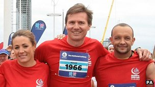Roger Black, with Nathalie Pinkham and Jamie Baulch