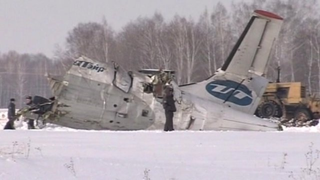 The crash site in Siberia