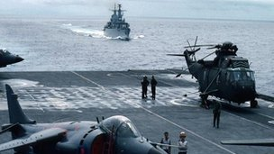 British Task Force heads for the Falklands